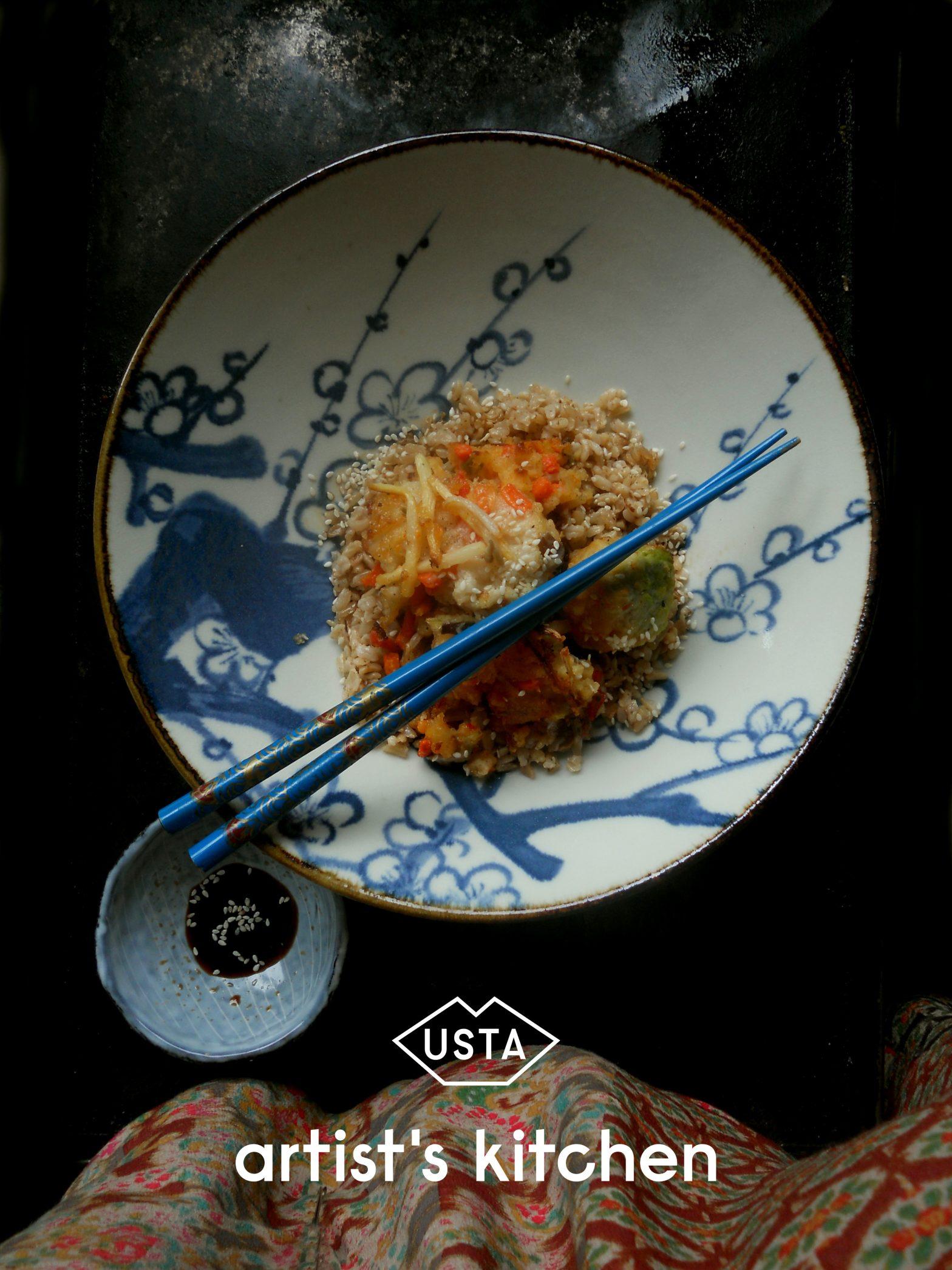 Jeść jak Georgia O'Keefee: brązowy ryż z imbirem