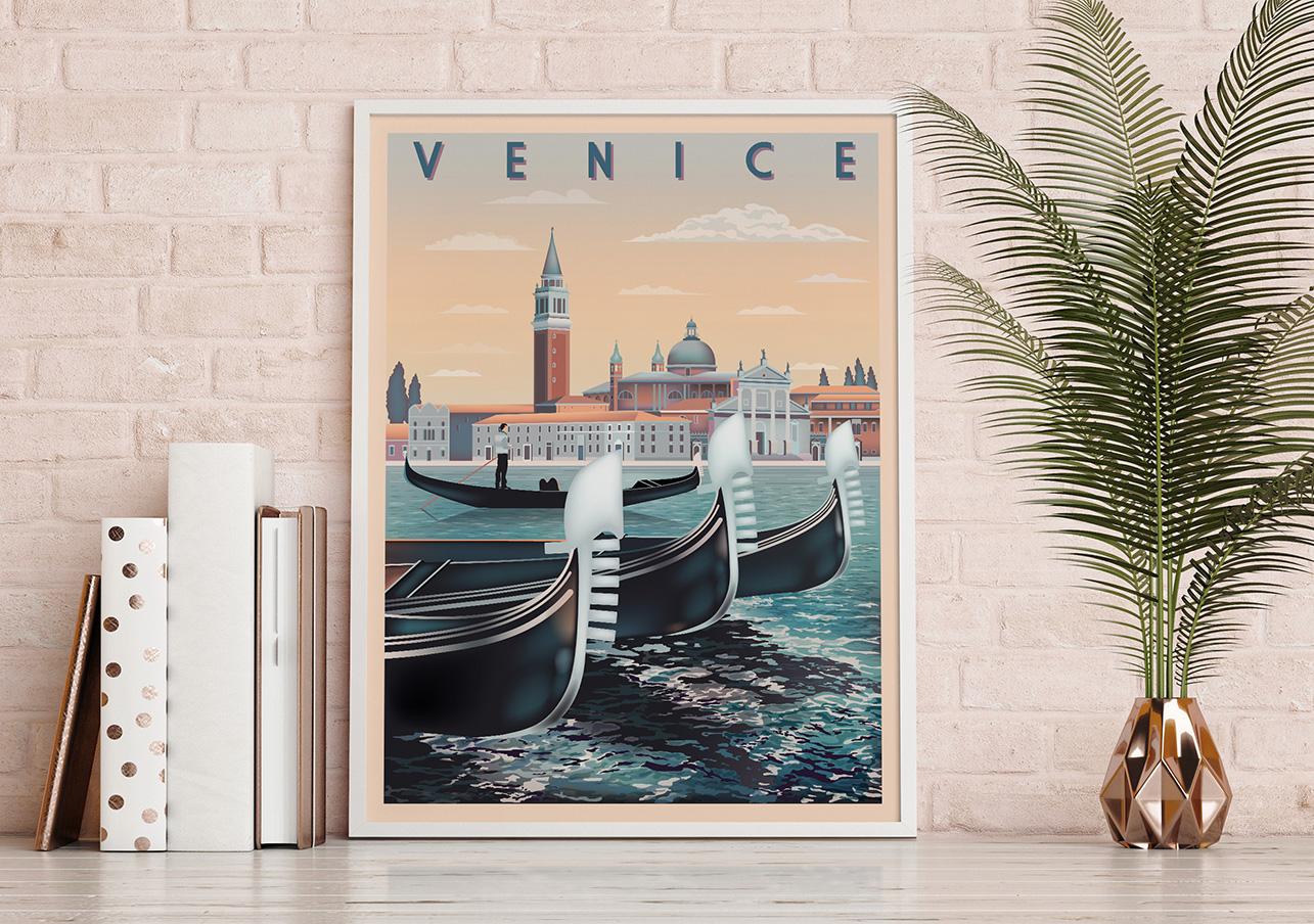 Plakaty ze słynnymi metropoliami