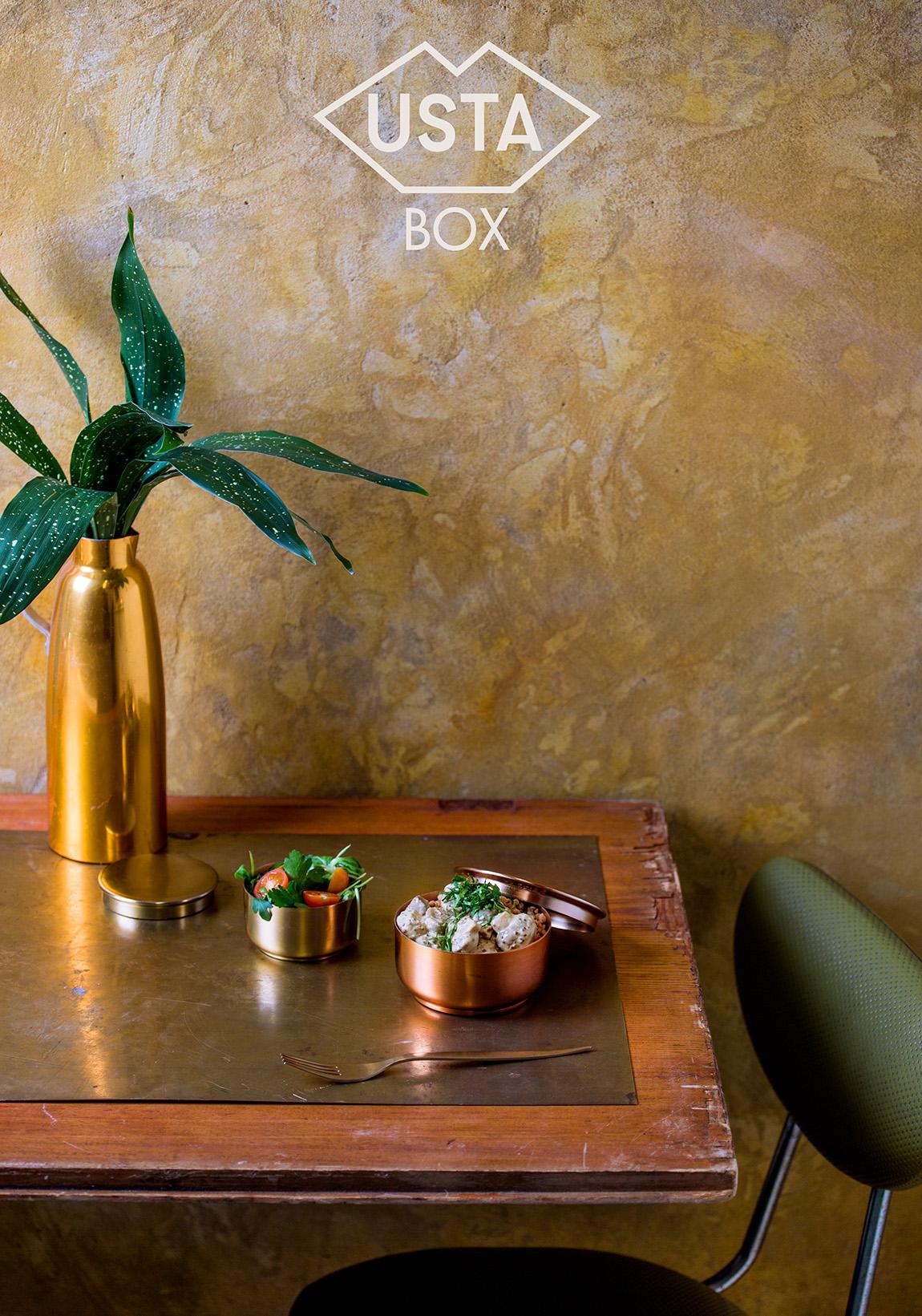 Pudełko 14: pieczarki w sosie śmietanowo-musztardowym z kaszą gryczaną