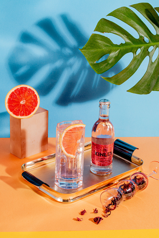 Hibiskus Gin&Kinley oktajl drink przepis